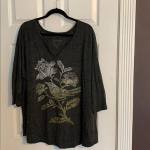 Lucky Brand 3/4 Length Sleeve T-Shirt